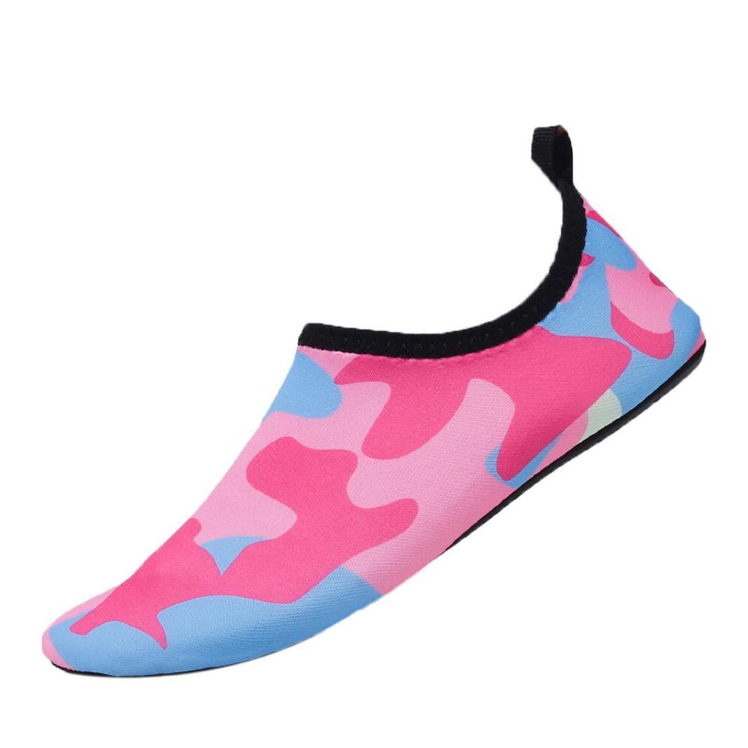 yjydada水スポーツ靴裸足速乾性Aquaヨガソックススリップオンメンズレディースヨガ B07CR7QL1D 36 ホットピンク ホットピンク 36