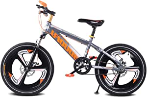 Single Speed Kids' Mountain Bike, 16''18''20'' Gears Road Bicycle Mountain Student Dual Disc Brake Bicycle Reduce Vibration Children Bicycle,16inch