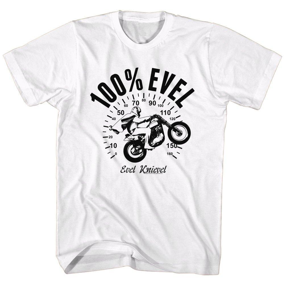 Evel Knievel Shirt 100 Miles Evil Adult Tee Tshirt