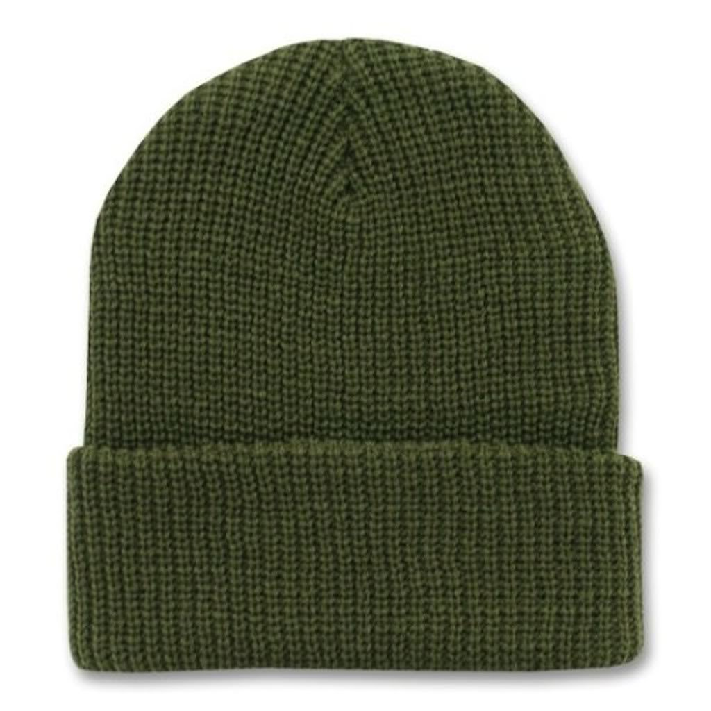 3272019a60ebdd Decky (12 Pack) 12 Inch Long Knit Watch Cap Beanie (One Size, Olive Green)  at Amazon Men's Clothing store: