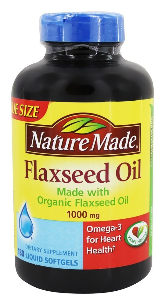 Nature Made 1000 mg Family Size Flaxseed Oil Softgels, 180 ct