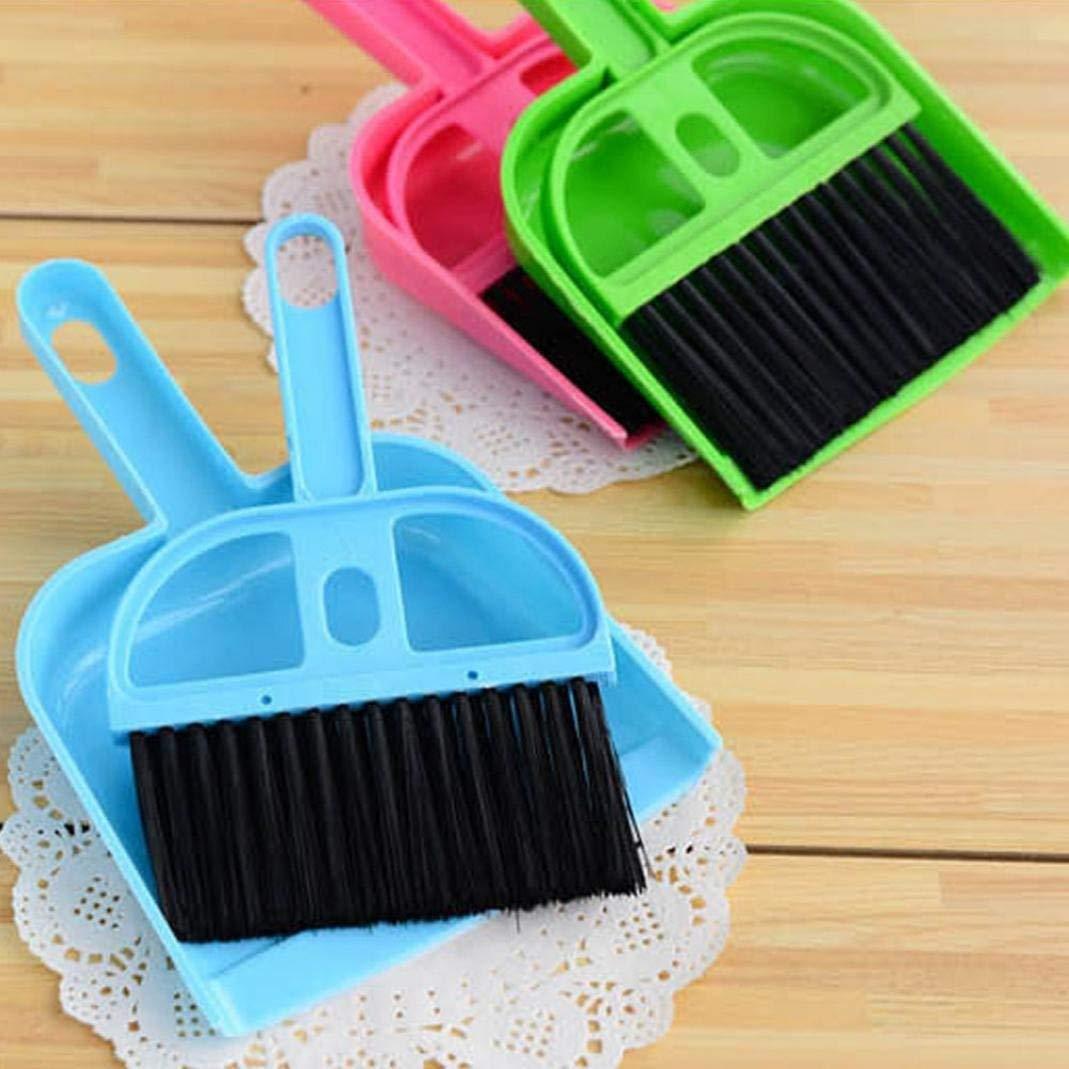 WESEEDOO Spazzola per La Pulizia Set di Pennelli per La Pulizia Mini Spazzola per La Pulizia del Desktopspazzola Sweeping Dustpans Confezione da 3 Pezzi