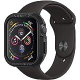 【Spigen】 Apple Watch Series 4 44mm 対応 ケース 落下 衝撃 吸収 タフネスデザイン ラギッド・アーマー 062CS24469 (ブラック)