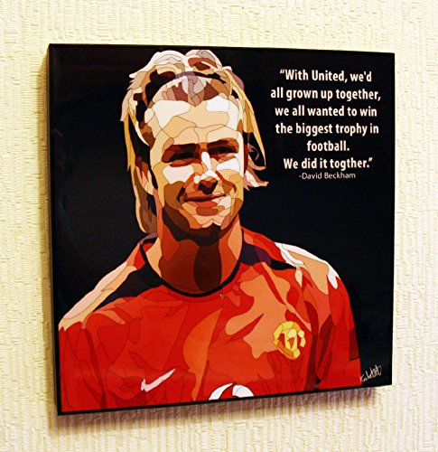(David Beckham Manchester United FC Football Soccer Poster POP ART canvas Quotes wall decals framed)