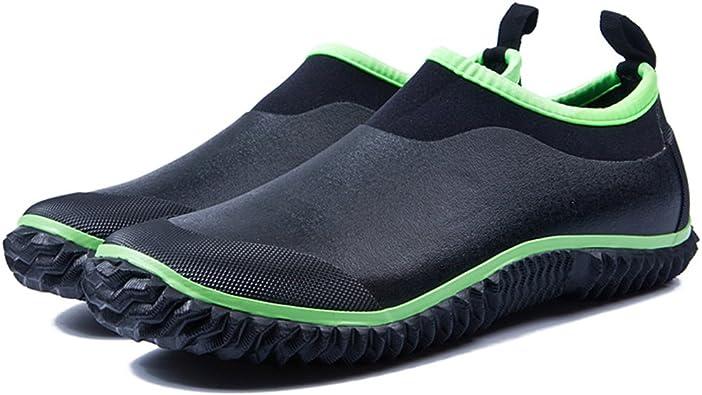 Amazon.com | Qiucdzi Rain Boots Womens and Mens Non Slip Outdoor Footwear  Waterproof Garden Shoes | Rain Footwear