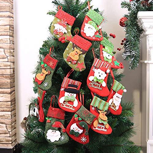 (Christmas Stockings Cute Xmas Decoration Christmas Tree Ornaments and treat Bags Christmas Hanging Socks for Xmas Tree, Home, Garden Decoration)