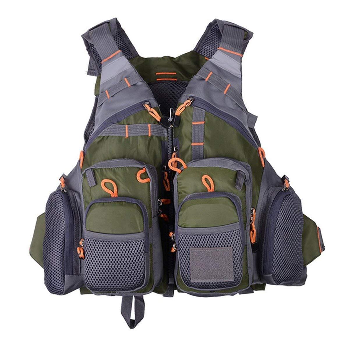 Moliies Komfortable multifunktionale Outdoor Angeln schnell trocknende Mesh Angeln Weste Mutil-Taschen Abnehmbare Angeln Weste Jacke