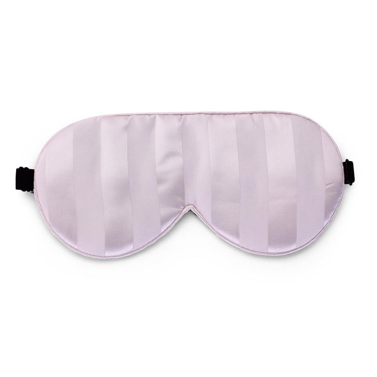 ALASKA BEAR® Natural silk sleep mask & blindfold, super-smooth eye mask (Pink Stripe)