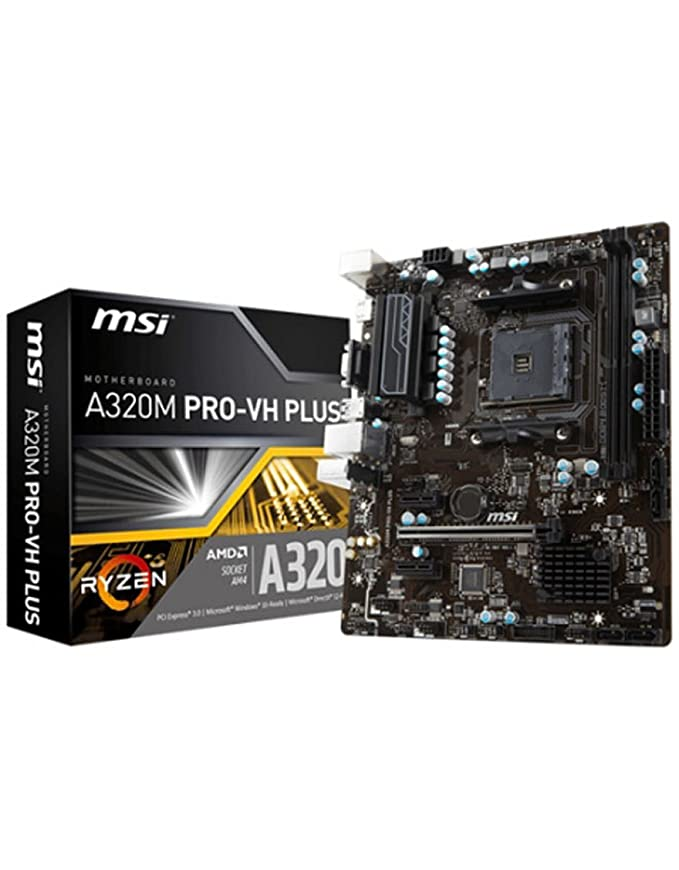 MSI A320M PRO-VH Plus AMD Ryzen AM4 Socket Motherboard Motherboards at amazon