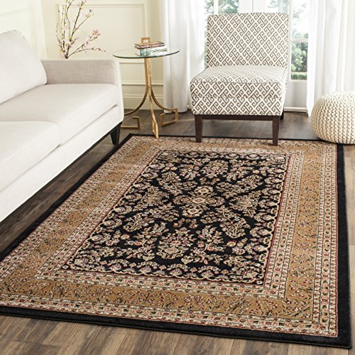 (Safavieh Lyndhurst Collection LNH331D Traditional Oriental Black and Tan Area Rug (4' x 6'))