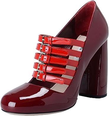 Miu Miu Women's Red Patent Leather High