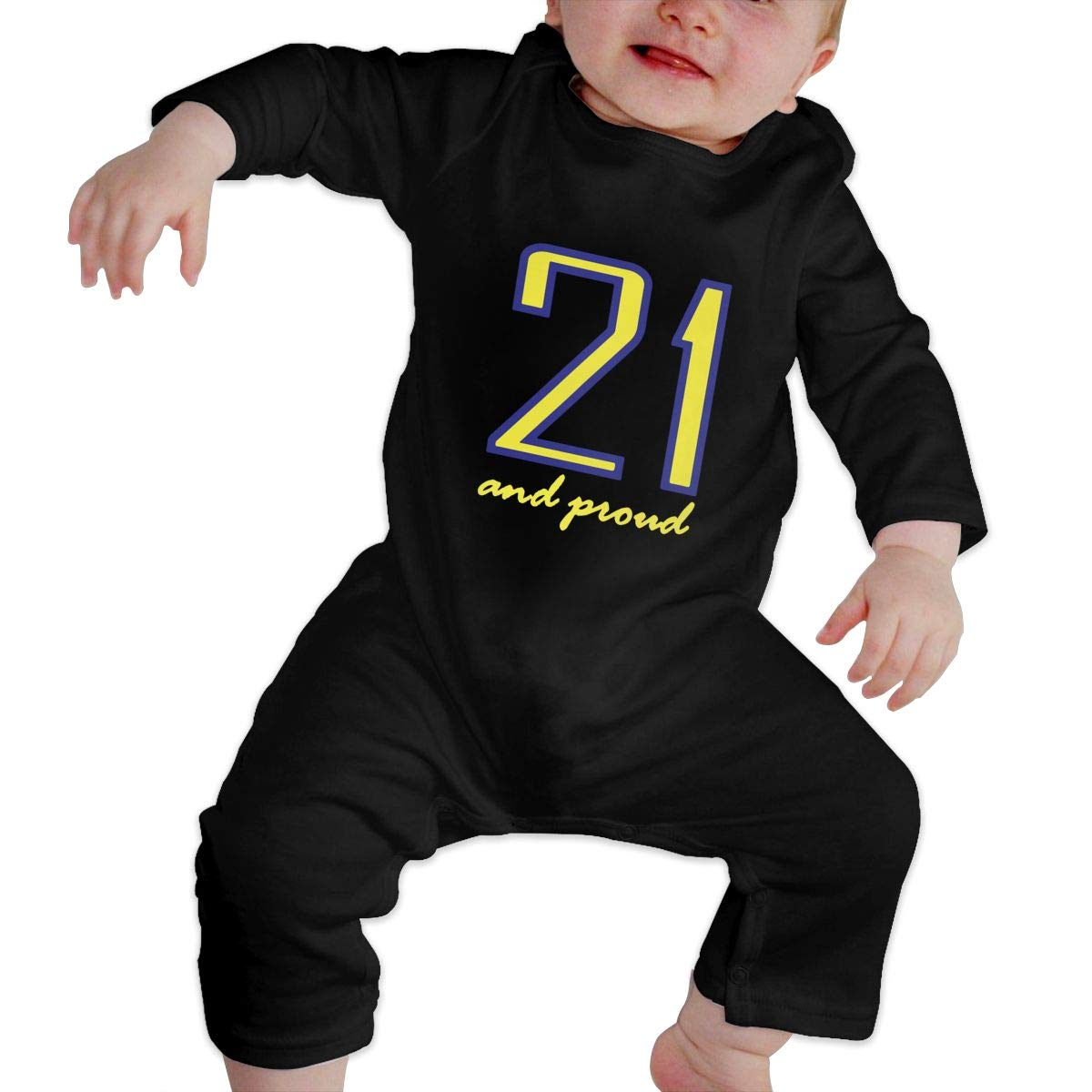 Suit 6-24 Months Q64 Baby Boys Round Collar World Down Syndrome Day Long Sleeve Playsuit 100/% Cotton