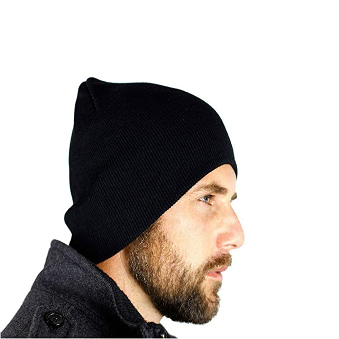 TKSTAR-Classic Men s Warm Wool Hat Black Beanie Cap Head Warm with 10    Free Size Cover Ears All-round Protection Easy Wash-JU-H035  Amazon.ca   Clothing   ... 3b5ea6108d9