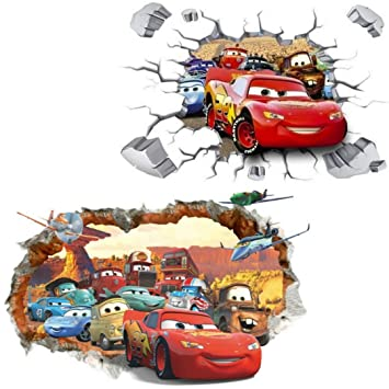 Kibi 2pcs 3d Aufkleber Cars Wandtattoo Cars Wandaufkleber Cars 3 Wandsticker Cars Disney Wandtattoo Cars Kinderzimmer Dekoration Abnehmbare Aufkleber Wall Stickers Xxl Amazon De Baby