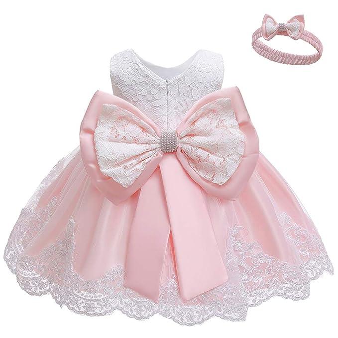 Amazon.com: LZH - Vestido de tutú para bebé o niña, con lazo ...