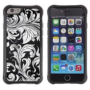 "Pulsar iFace Series Tpu silicona Carcasa Funda Case para Apple (4.7 inches!!!) iPhone 6 , Wallpaper Planta Gris Hojas Diseño de Interiores"""