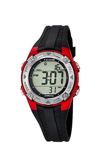 Calypso – Reloj Digital Unisex con LCD Pantalla Digital Dial y Correa de plástico en Color