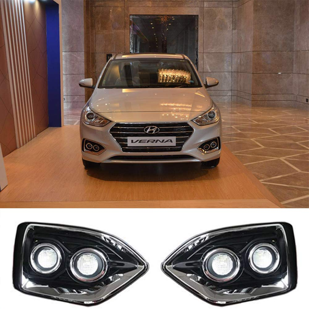 Daytime Running Light LED DRL Fog Lamp For Hyundai Accent/Verna/Solaris 2018-2019 WINAUTO