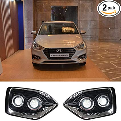 Amazon.com: Daytime Running Light LED DRL Fog Lamp For Hyundai Accent/Verna/Solaris 2018-2019: Automotive