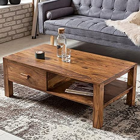 f31f01bad27 Hariom Handicraft Rectangle Sheesham Wood Coffee Table for Living Room