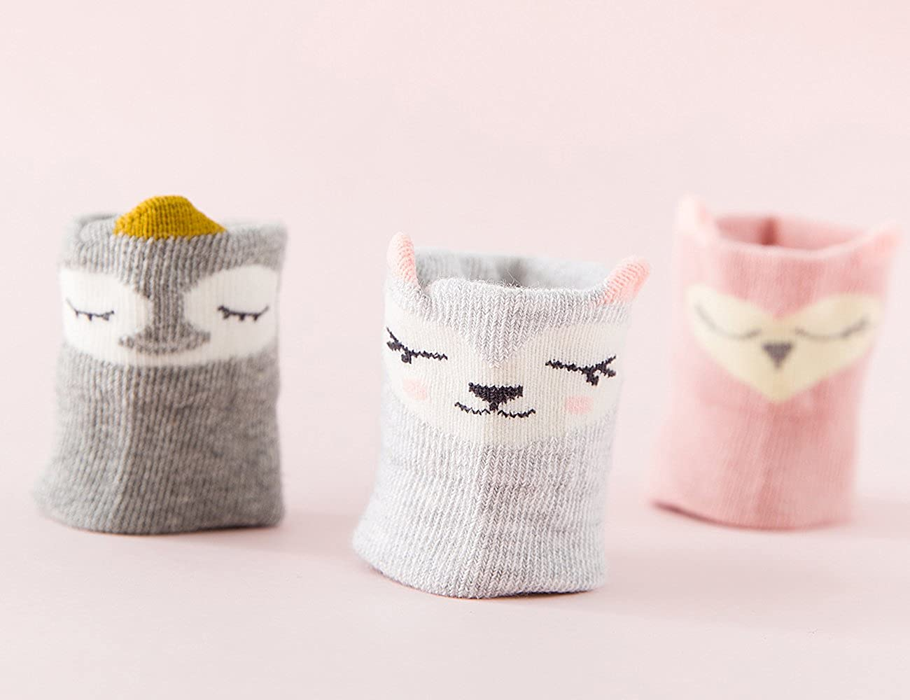 Baby Boys Girls Toddler Socks Cartoon Animal Non Skid Crew Socks for Kids