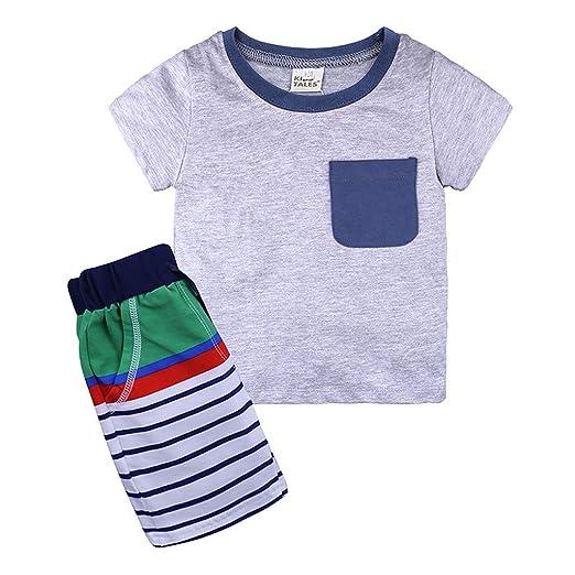 Baiomawzh Ropa Bebe Niño Verano-Pijamas De Dormir Camisa ...