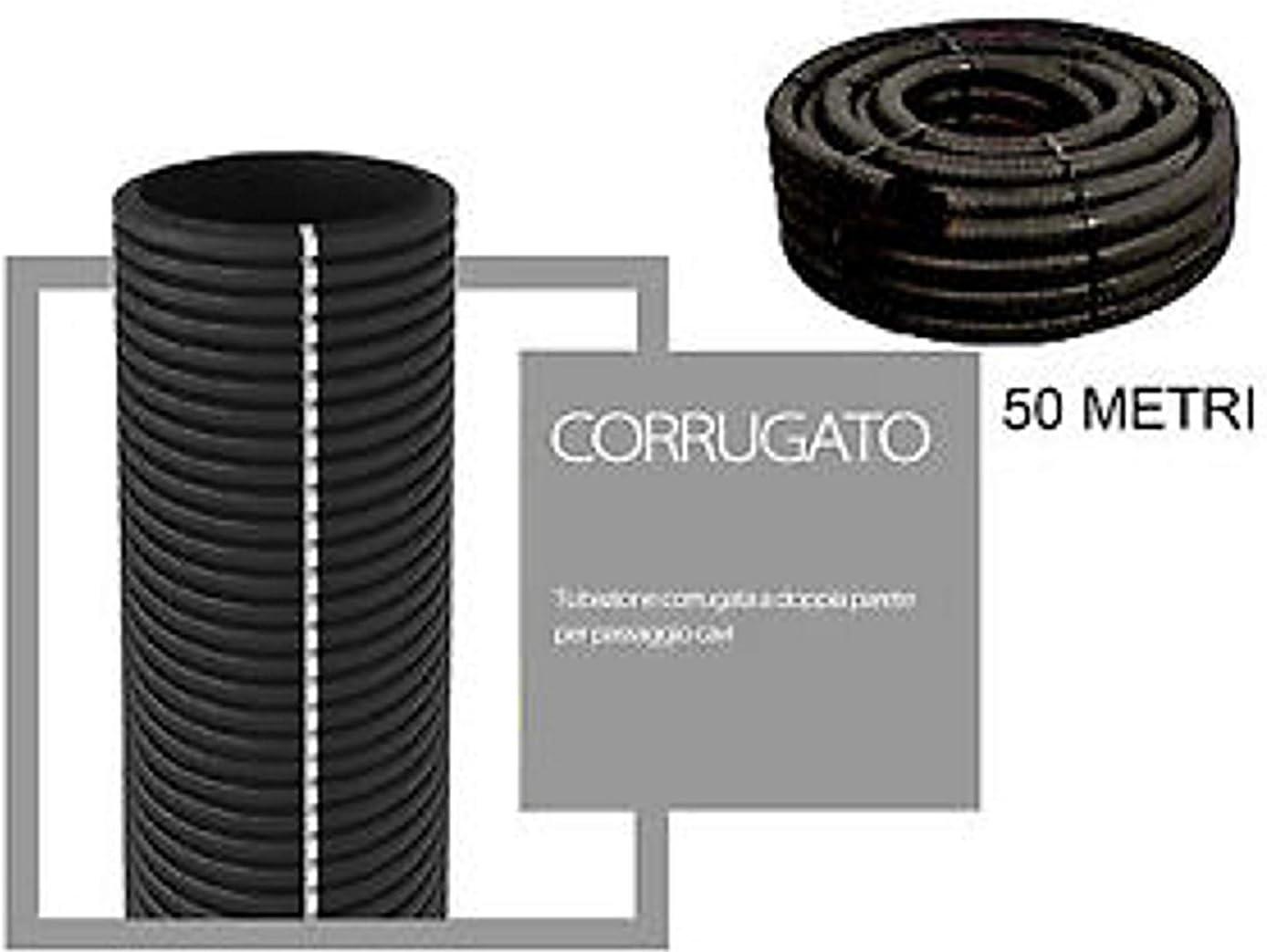 Tubo corrugado de doble capa para instalaciones el/éctricas 40 mm de di/ámetro rollo de 50 metros