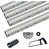 hochwertige Materialien modernes Design elegantes und robustes Paket 3,3 m bis 4,6 m Achtkant Rolladenwellen Set SW 60 verzinkt ...