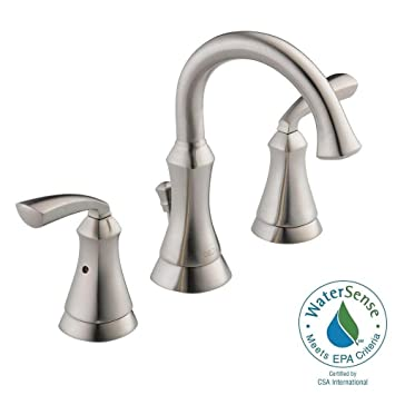 Delta Mandara 2-Handle 8 In. Wideset Stainless Lavatory Faucet ...