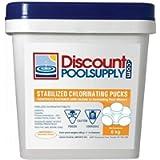 Premium Long Lasting 3' Stabilized Chlorine Pucks (6Kg)