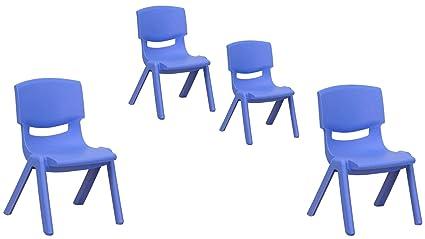 Amazon.com: Flash Furniture Plastic Stackable School Chairs ...
