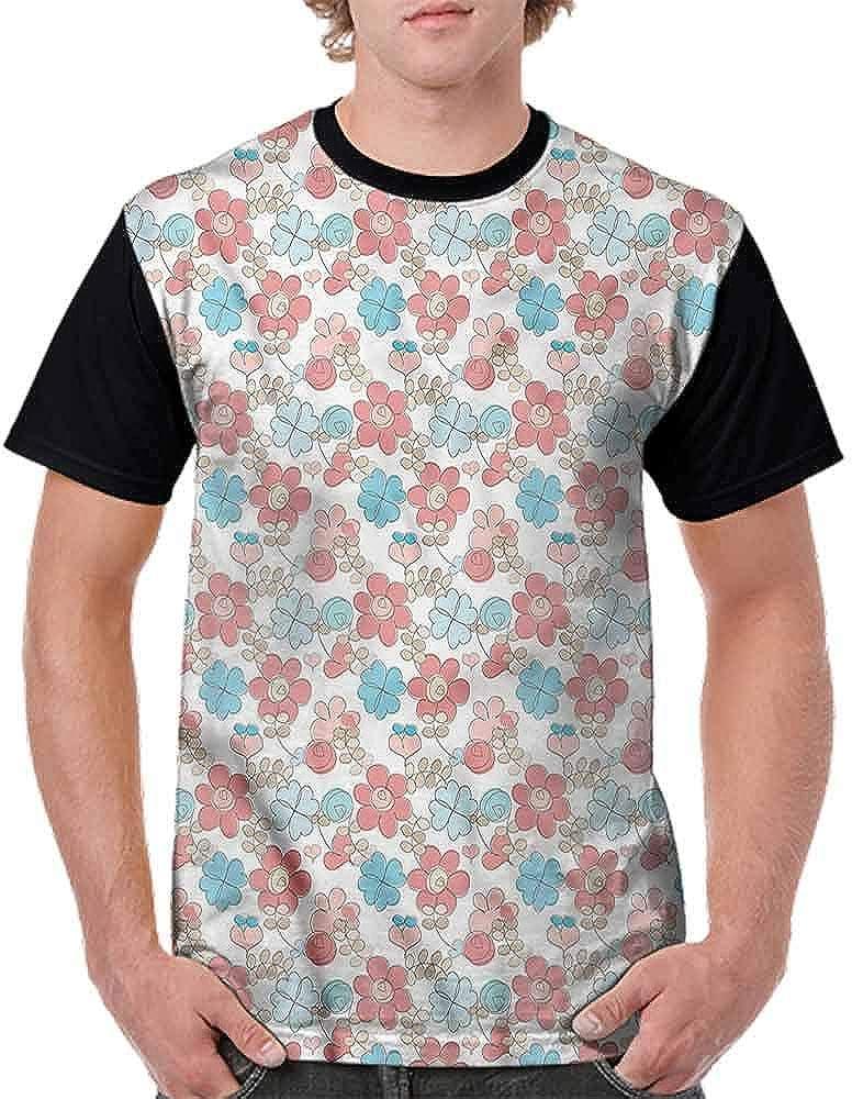 BlountDecor Casual Short Sleeve Graphic Tee Shirts,Ornamental Zentangle Design Fashion Personality Customization