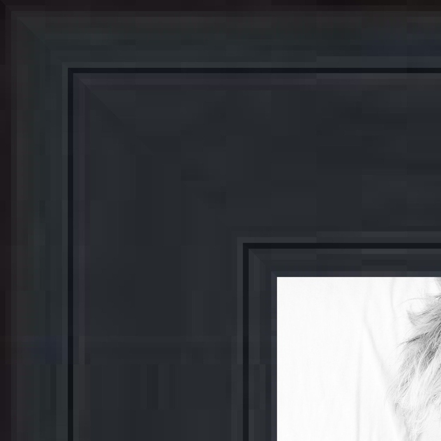 ArtToFrames 10x13 inch Black Stain on Pine Wood Picture Frame, WOM0066-80206-YBLK-10x13