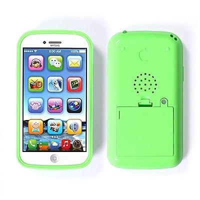 Lailongp Simulador Inteligente Teléfono Juguetes de Música USB Puerto para Niños Regalo, color verde: Salud y cuidado personal