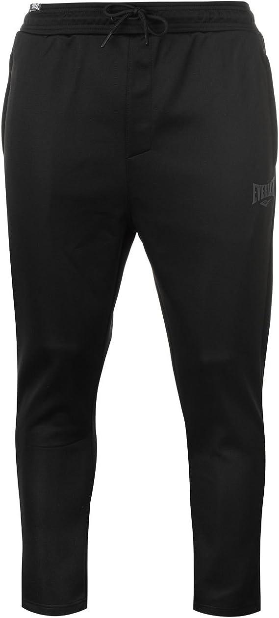 Everlast Open Hem Textured Track Pants Mens Gents Poly Tracksuit Bottoms