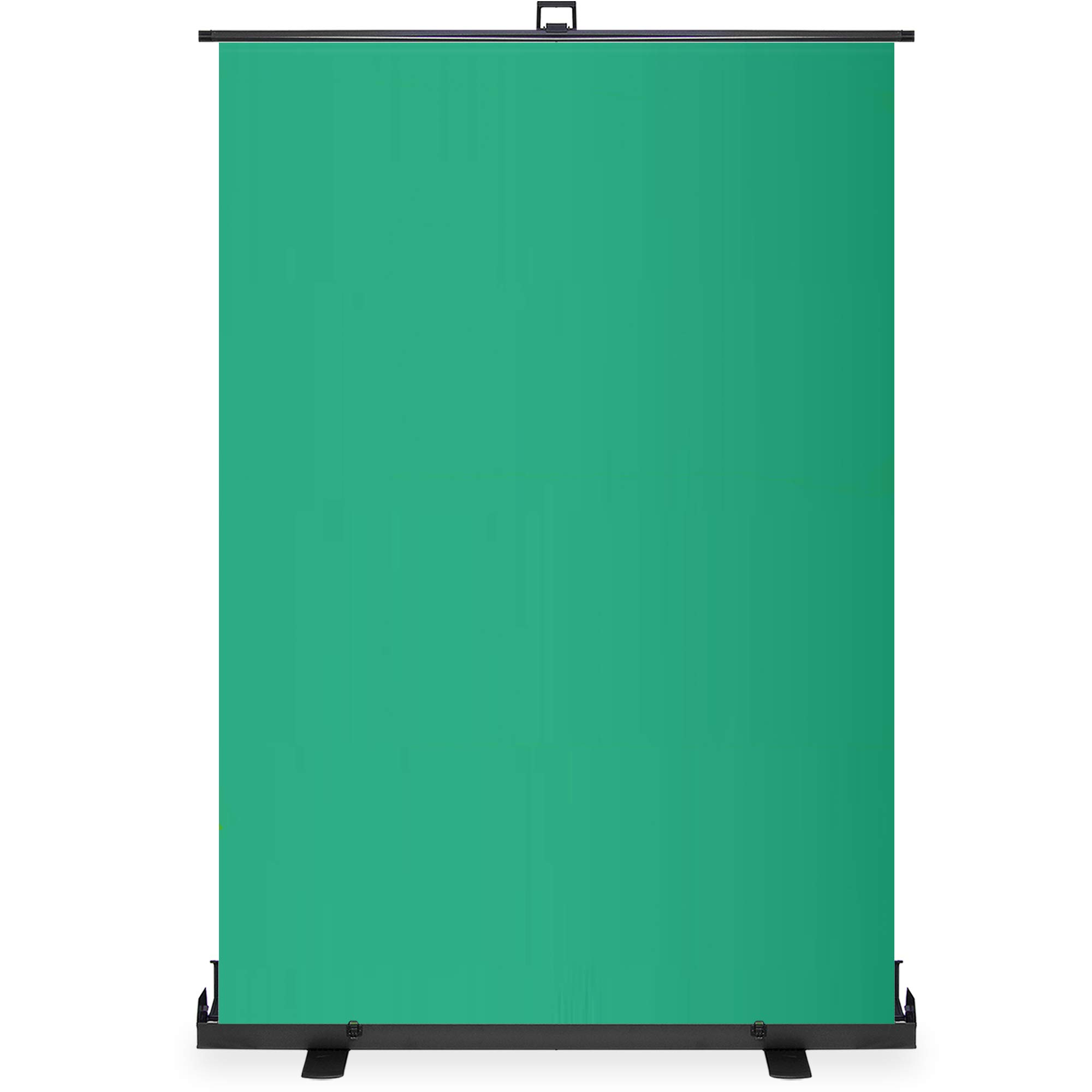 KHOMO GEAR Jumbo Size 55'' x 82'' Green Screen Collapsible Pull-Up Extra Large Streaming Portable Backdrop Setup with Auto-Locking Frame