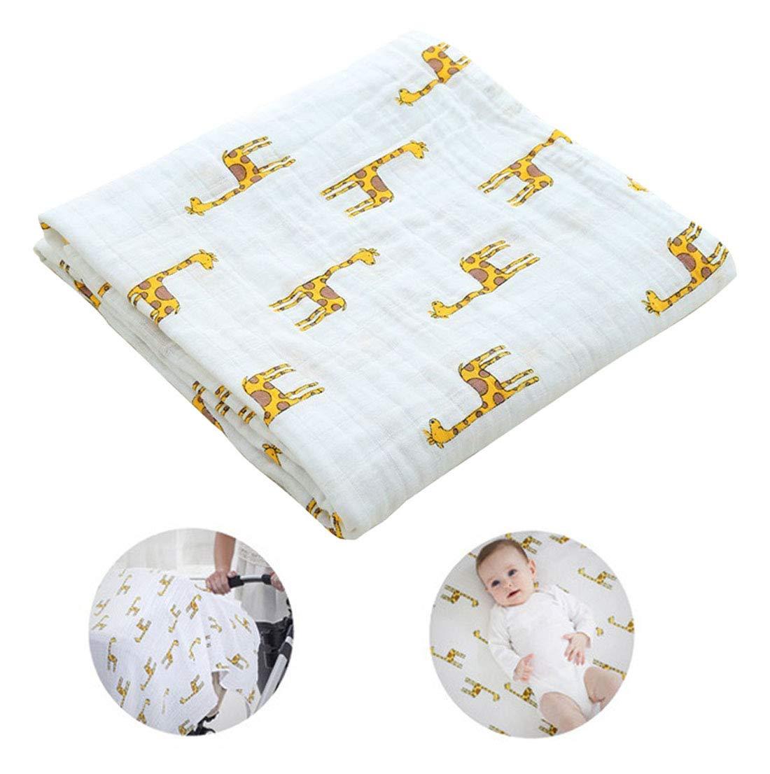 Ymwave Baby Musselin Swaddle Decke T/ücher Kinderwagen Decke Bambus Baumwolle Swaddle 120 x 120 cm f/ür Baby Girl oder Boy
