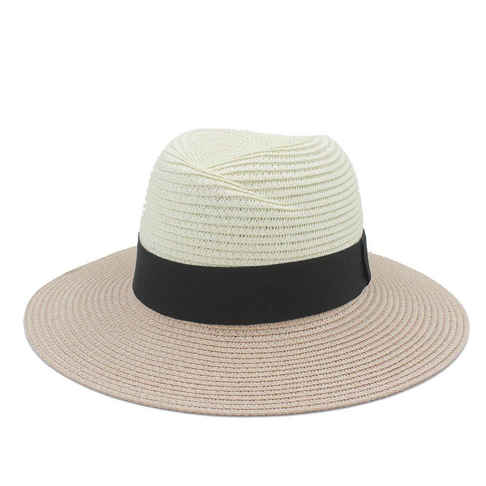 Gorra de Sol Verano Elegante Sombrero Grande de Ala Ancha Gorra de ...