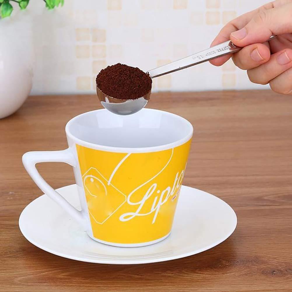 Gracorgzjs Stainless Steel 1Pc Measuring Spoon Tea Coffee Powder Measure Cooking Scoop Kitchen Stirring Gadget
