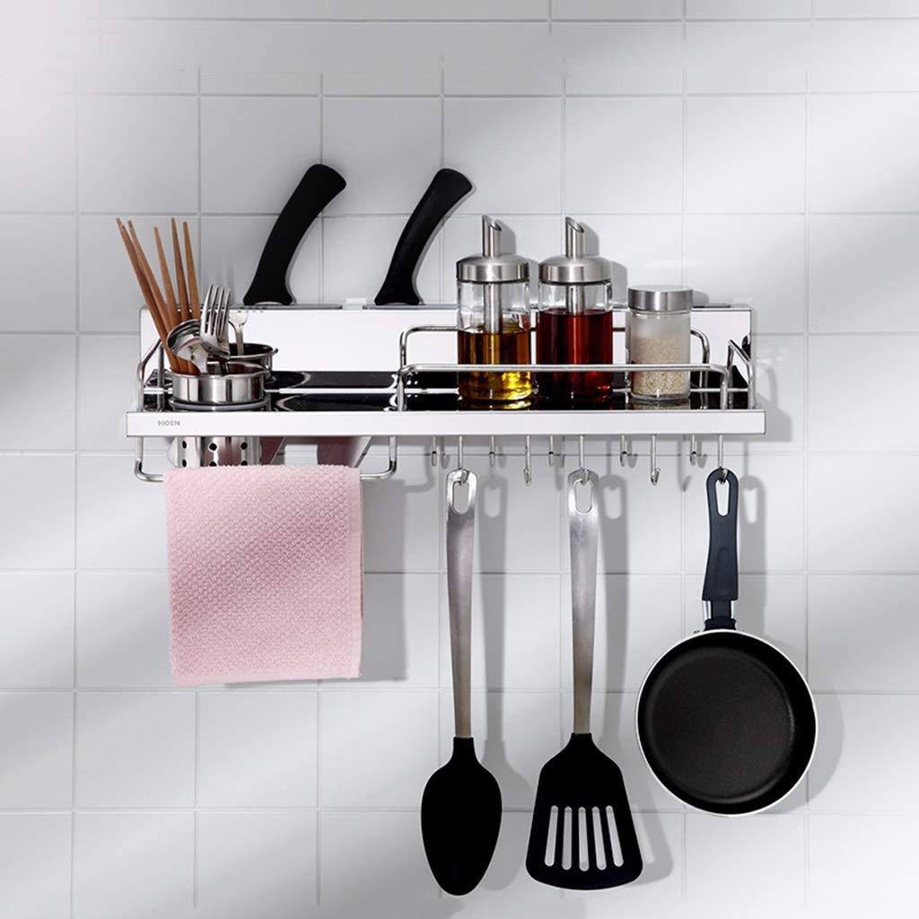 Estante de cocina Cocina casera Colgante De Cocina Acero Inoxidable Multifuncional Almacenamiento De Utensilios De Cocina Soporte De Pared De Condimento ...