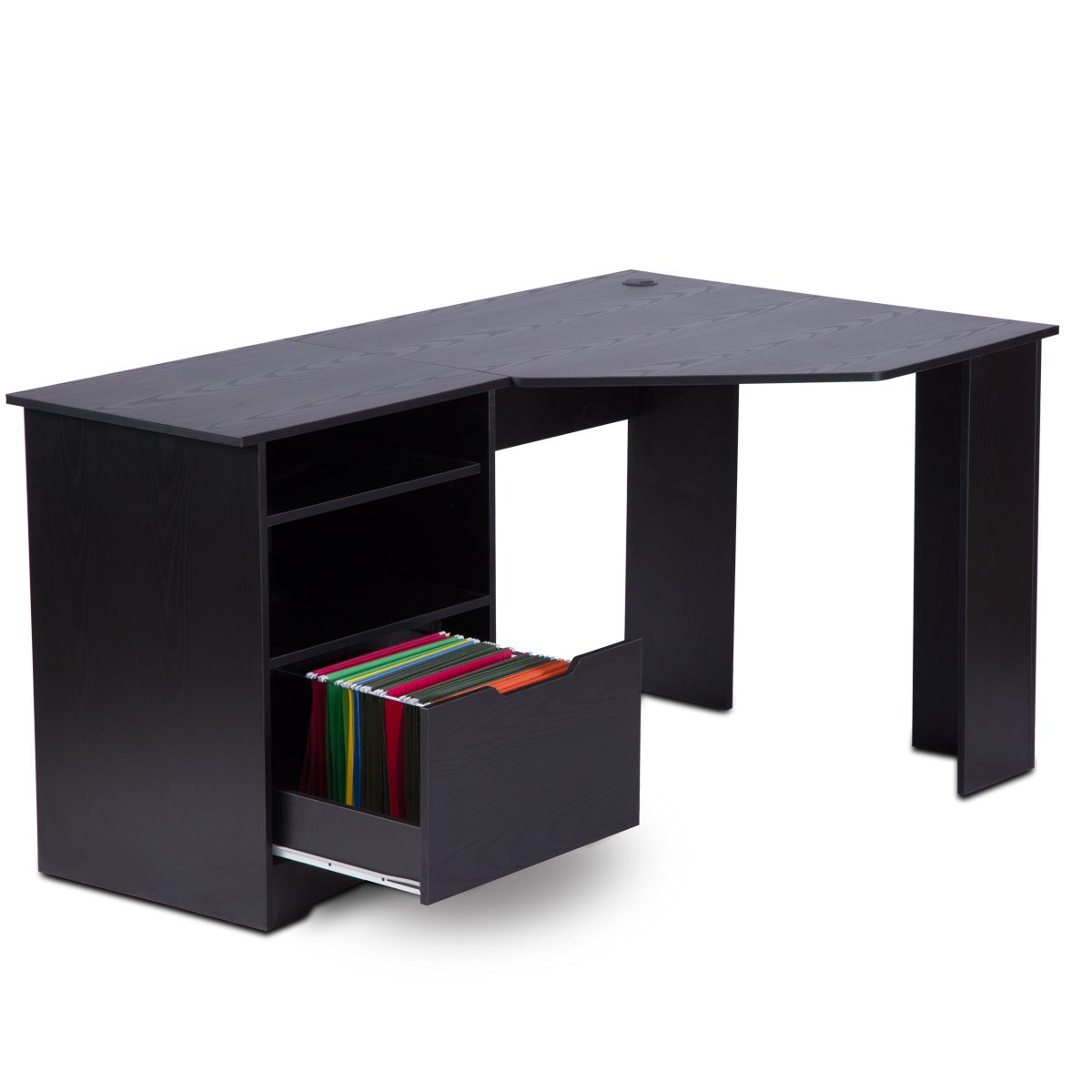 Corner Desk With File Cabinets Hostgarcia