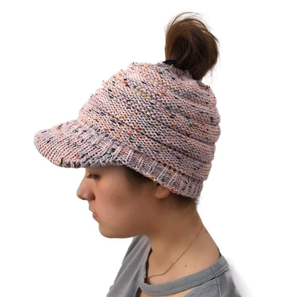 Londony Hats & Caps,Women Outdoor Knitted Hats Crochet Multicolor Knit Hip-hop Cap Wool Peak Cap by Londony Hats & Caps (Image #1)