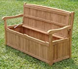 Cheap 5 Feet Grade-A Teak Wood Outdoor Patio Bench with Storage Box -DVSBench