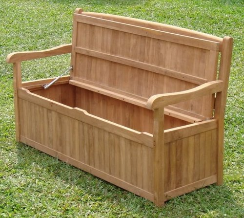 5 Feet Grade A Teak Wood Outdoor Patio Bench With Storage