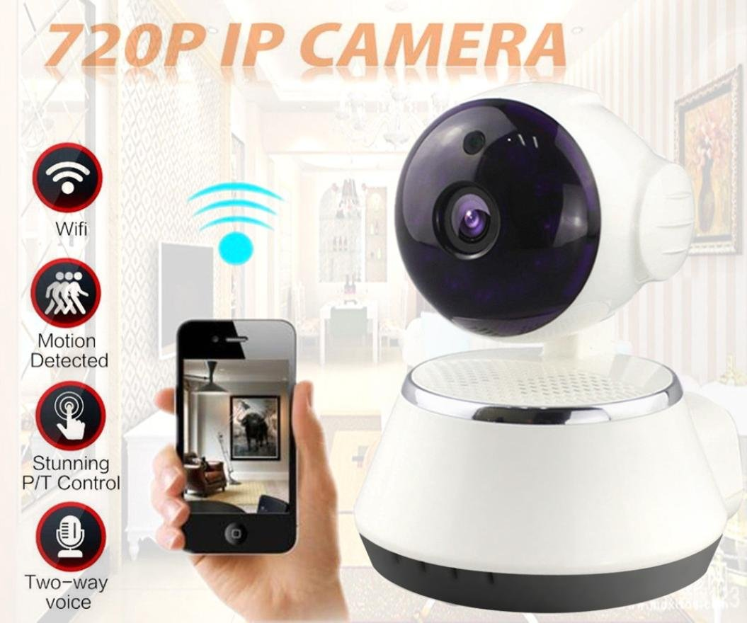 Creazy Wireless 720P Pan Tilt Network Security CCTV IP Camera Night Vision WiFi Webcam