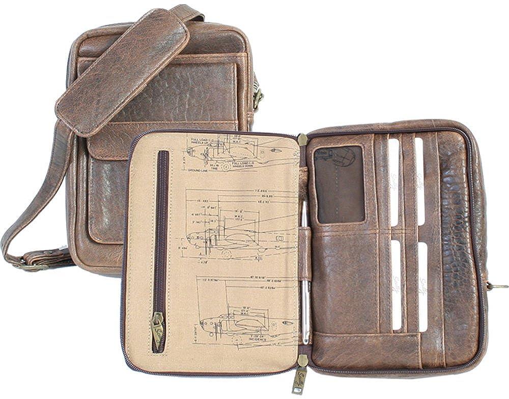 Scully ユニセックス戦隊旅行/パスポートショルダートート  アンティークブラウン B000AI1EXY