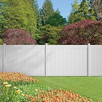 Amazon Com Dover 6 Ft H X 8 Ft W Vinyl Privacy Fence