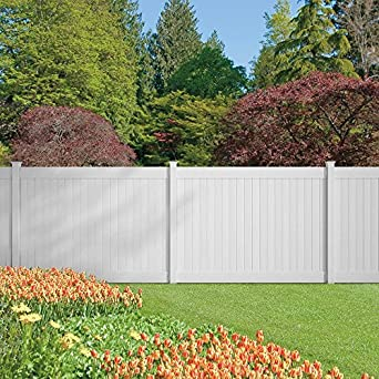 Amazon Com Dover 6 Ft H X 8 Ft W Vinyl Privacy Fence