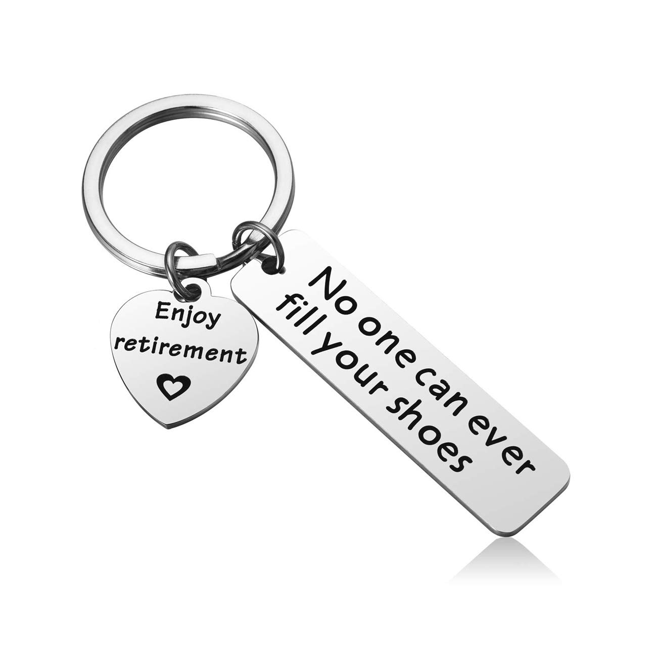 JJTZX Enjoy Retirement No One Can Ever Fill Your Shoes Retirement Keychain Happy Retirement Gift