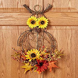 Grunyia Artificial Flowers Fake Sunflowers, 4PCS Faux Silk Flowers Floral Table Centerpieces Arrangements Home Kitchen Office Windowsill Hanging Spring Decorations 5